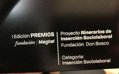 La Fundación Don Bosco galardonada en los I Premios de la Fundación Magtel