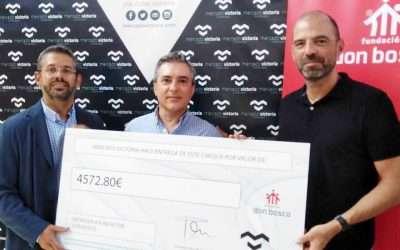 Mercado Victoria entrega a la Fundación 4.572 € para sus proyectos
