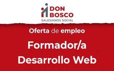 Oferta de empleo: Formador/a en desarrollo web full stack